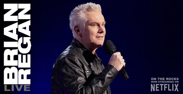 Photo of Brian performing, holding microphone   Live Nation presents BRIAN REGAN   Friday, February 11, 2022, 8:00pm   Playing at: Arlene Schnitzer Concert Hall