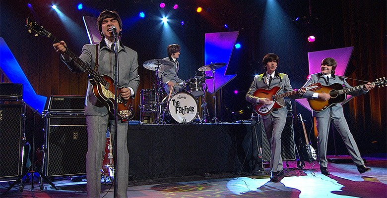 Photo of Fab Four performing as The Beatles   Emporium Presents THE FAB FOUR - THE ULTIMATE TRIBUTE   Friday, January 28, 2022, 8:00pm   Playing at: Newmark Theatre