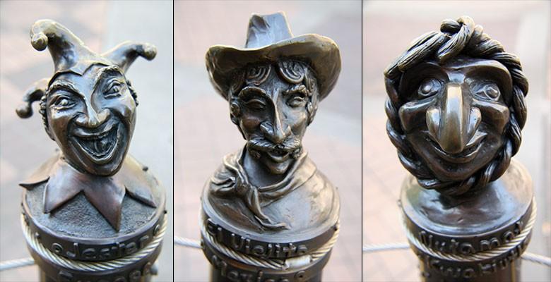 Folly Bollard sculptures on Main Street