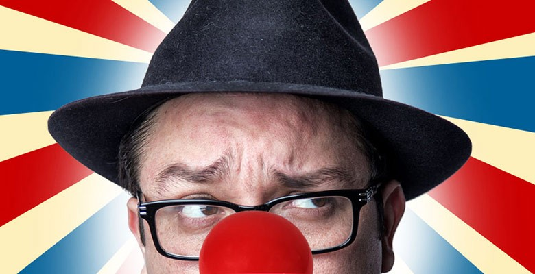 Photo of Franco Escamilla wearing a clown nose | LJ Productions presents FRANCO ESCAMILLA - Payaso Tour | Saturday, August 28, 2021, 8:00pm | Playing at: The Portland'5 Arlene Schnitzer Concert Hall