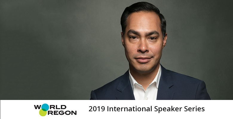 WorldOregon presents JULIAN CASTRO - Public Service & Activism for the Next Generation | 2019 International Speaker Series | Sunday, March 3, 2019, 7:00pm | Playing at: The Portland'5 Newmark Theatre