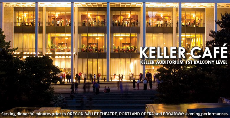 Keller Cafe - Open before opera, ballet and broadway events at Keller Auditorium. Located on the first balcony level.