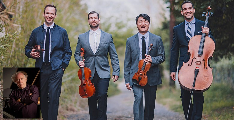 Portland'5 & Chamber Music Northwest present MIRÓ QUARTET WITH JEFFREY KAHANE | Wednesday, February 21, 2018, 7:30pm | Playing at: The Portland'5 Newmark Theatre
