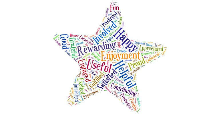 Image of a word star representing how Portland'5 Volunteers feel about their service.