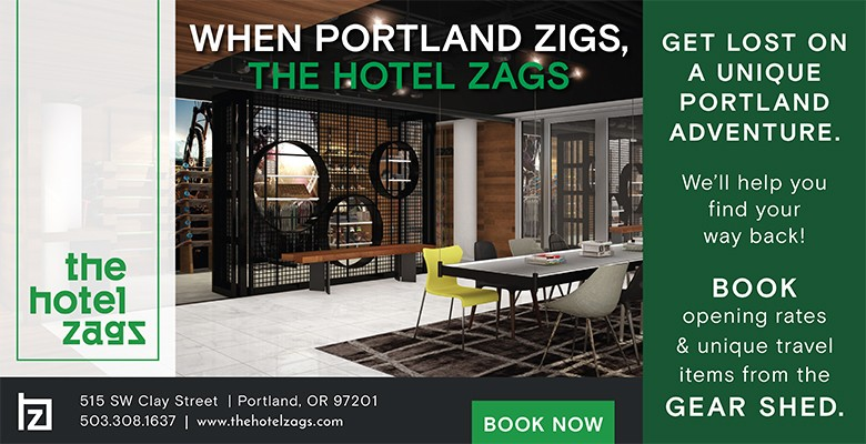 The Hotel Zags is an urban oasis in the heart of the Fountain District – a hidden gem in Portland's vibrant downtown. The hotel is enlivened by natural beauty and the quirky culture of the city around it inviting guests to explore Nature, Art and Play through a uniquely Portland lens.