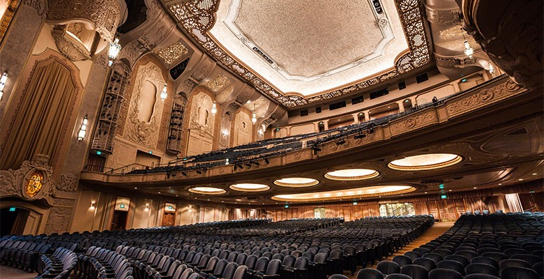Arlene Schnitzer Concert Hall interior | Orchestra level looking at seating from stage | Photo: Jason Quigley