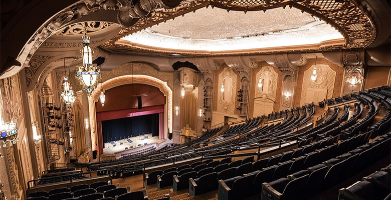 Arlene Schnitzer Concert Hall interior | 2nd balcony level looking at stage | Photo: Jason Quigley