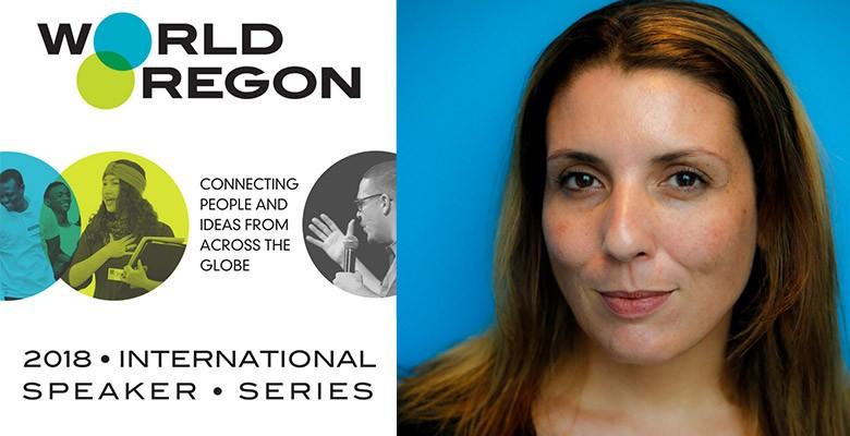 "WorldOregon presents LOURDES ""LULU"" GARCIA-NAVARRO | 2018 WorldOregon International Speaker Series | Tuesday, March 20, 2018, 7:00pm | Playing at: The Portland'5 Arlene Schnitzer Concert Hall"