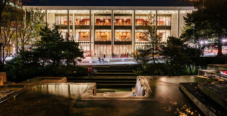 Photo of Keller Auditorium Exterior at night