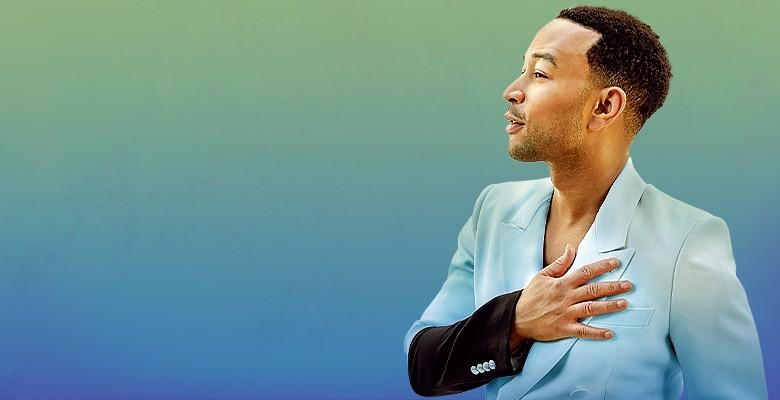 John Legend Bigger Love 2020 Tour image with photo of John