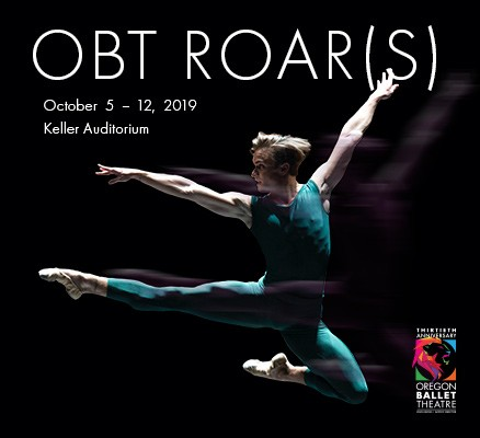 OBT Roar(s) October 5-12, 2019 Keller Auditorium | Promo image of OBT dancer