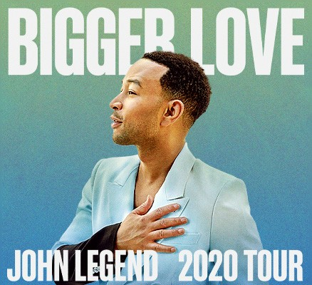 John Legend Bigger Love 2020 Tour image with photo of John