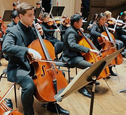 Metropolitan Youth Symphony photo of cello players