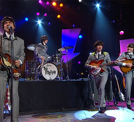 Photo: The Fab Four performing live