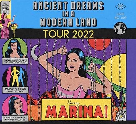 Marina: Ancient Dreams in a Modern Land Tour art (comic book style art)