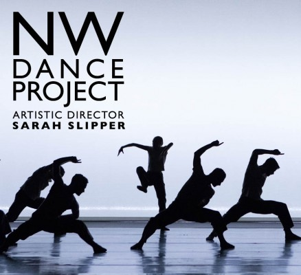 NW Dance Project photo of dancers performing on stage (silhouette)