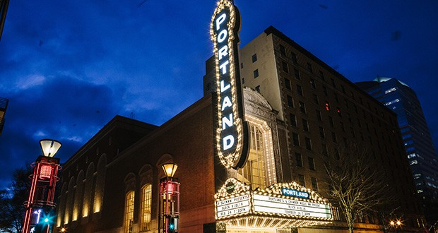 Historic Portland Sign At Arlene Schnitzer Concert Hall To Undergo - Arlene schnitzer concert